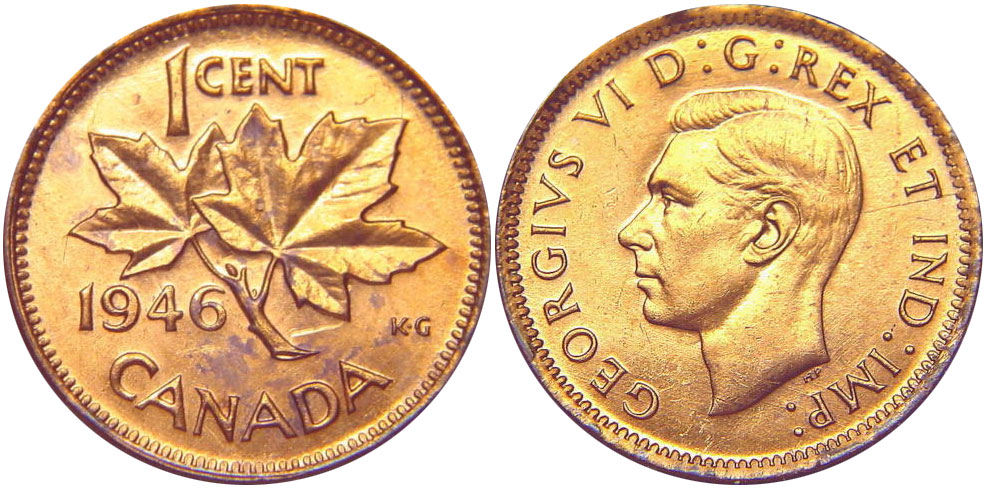 1 cent 1946