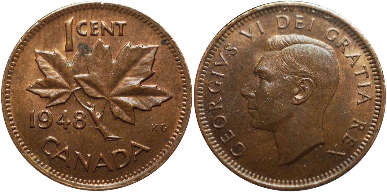 1 cent 1948