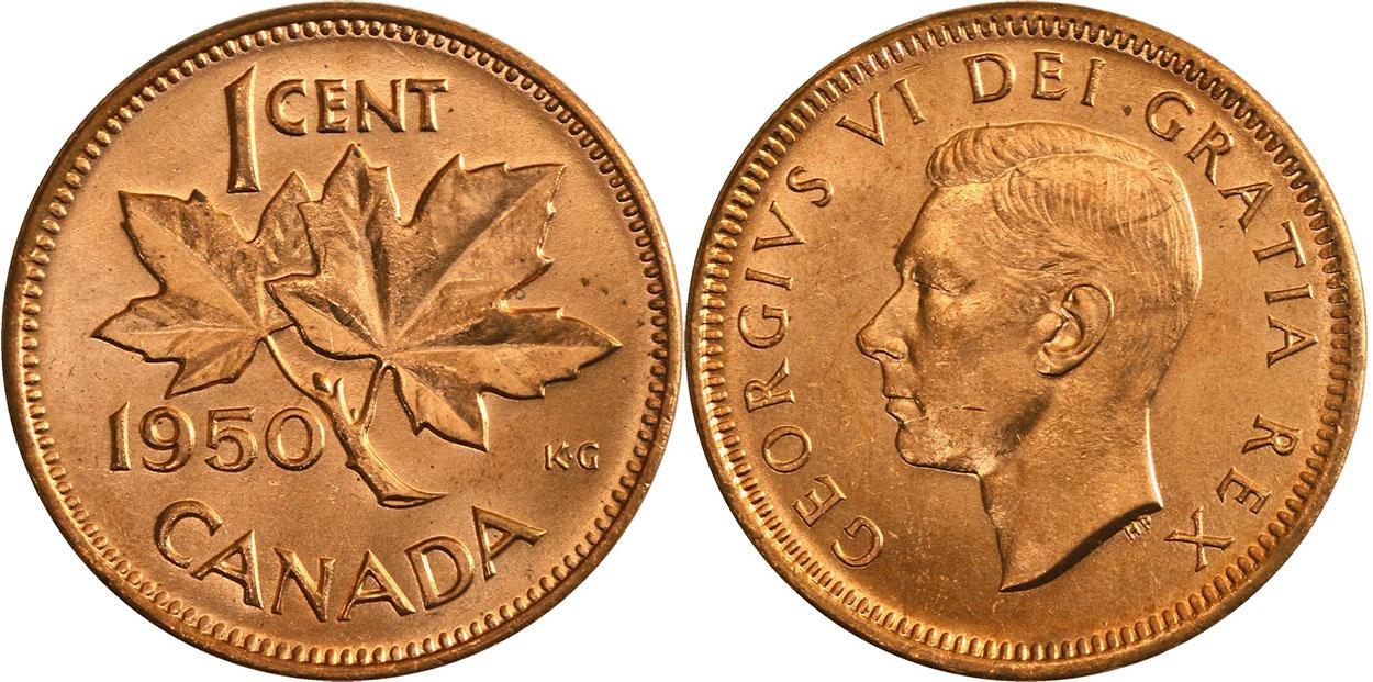 1 cent 1950