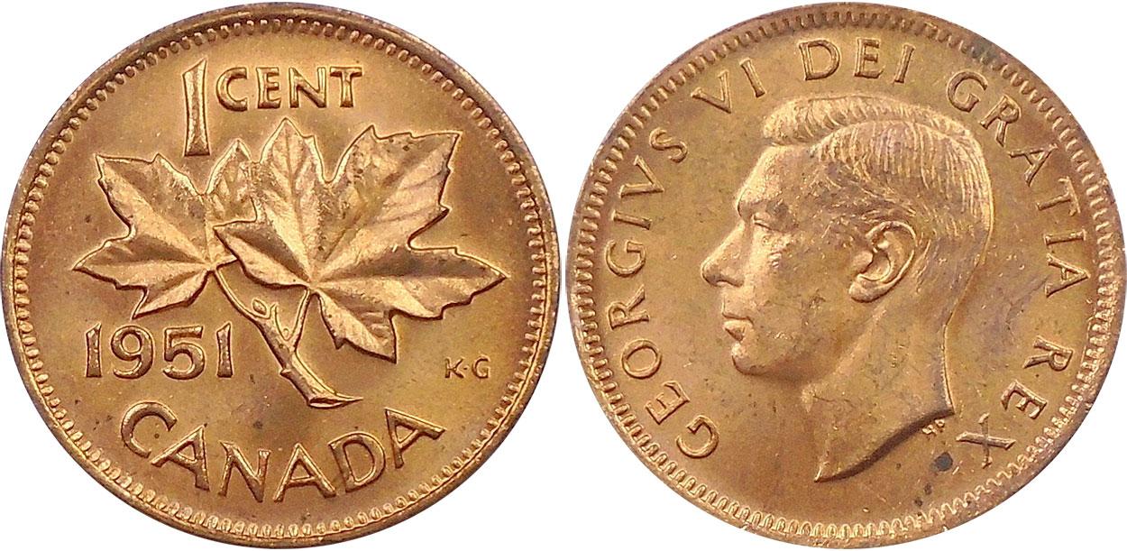 1 cent 1951