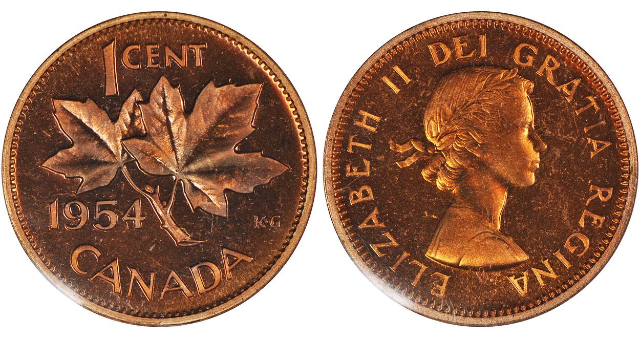 1 cent 1954