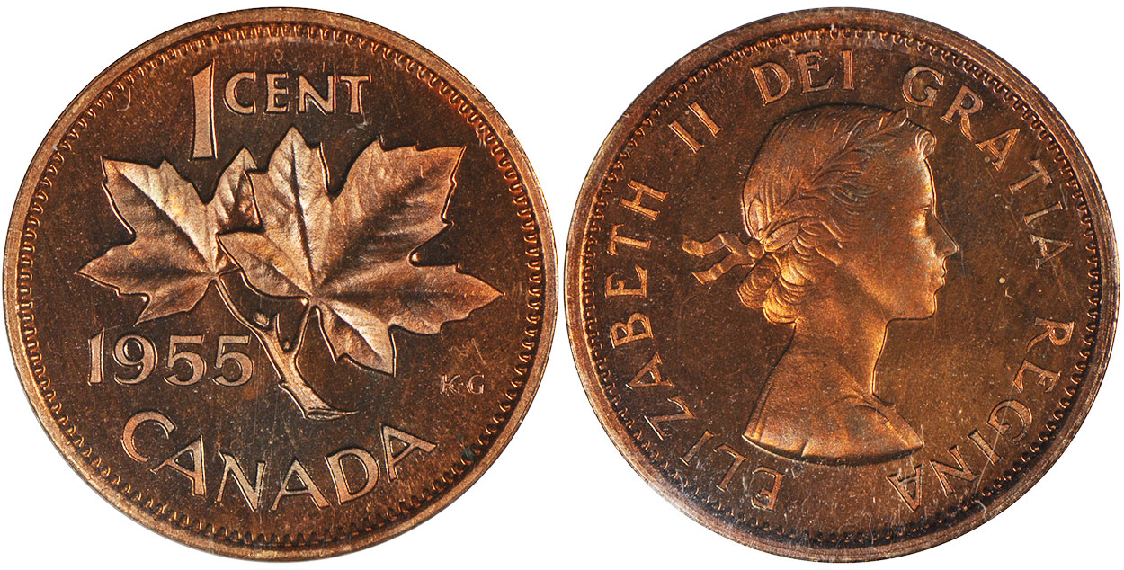 1 cent 1955