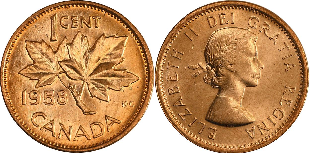 1 cent 1958
