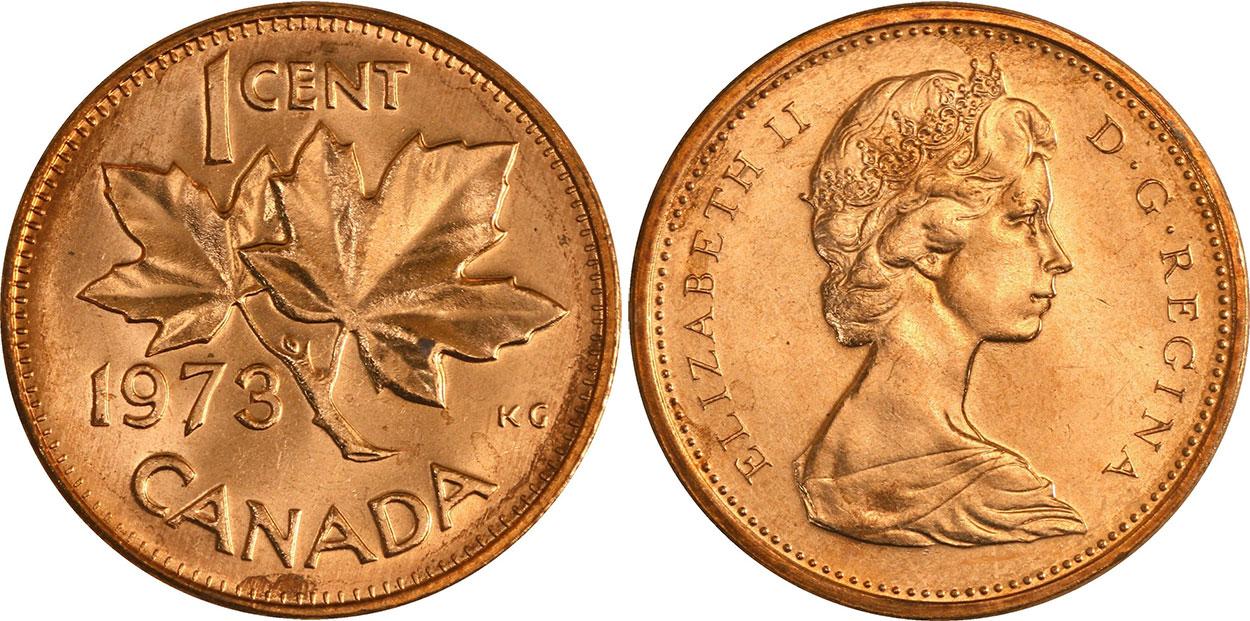 1 cent 1973