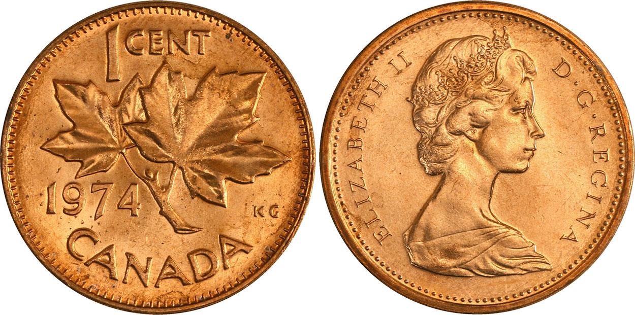 1 cent 1974