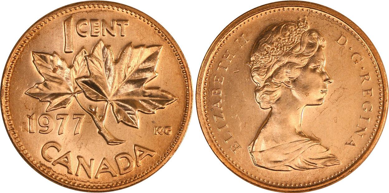 1 cent 1977