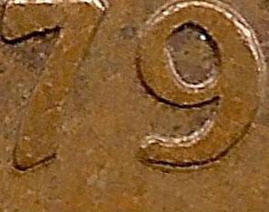 1 cent 1979 - Double 79