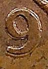 1 cent 1979 - Double 9