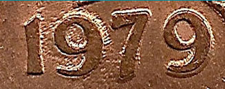 1 cent 1979 - Double 979
