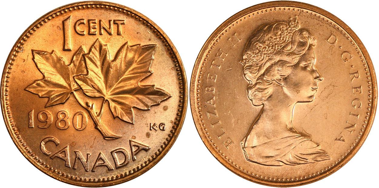 1 cent 1980