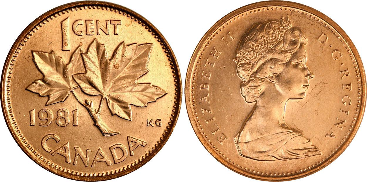 1 cent 1981