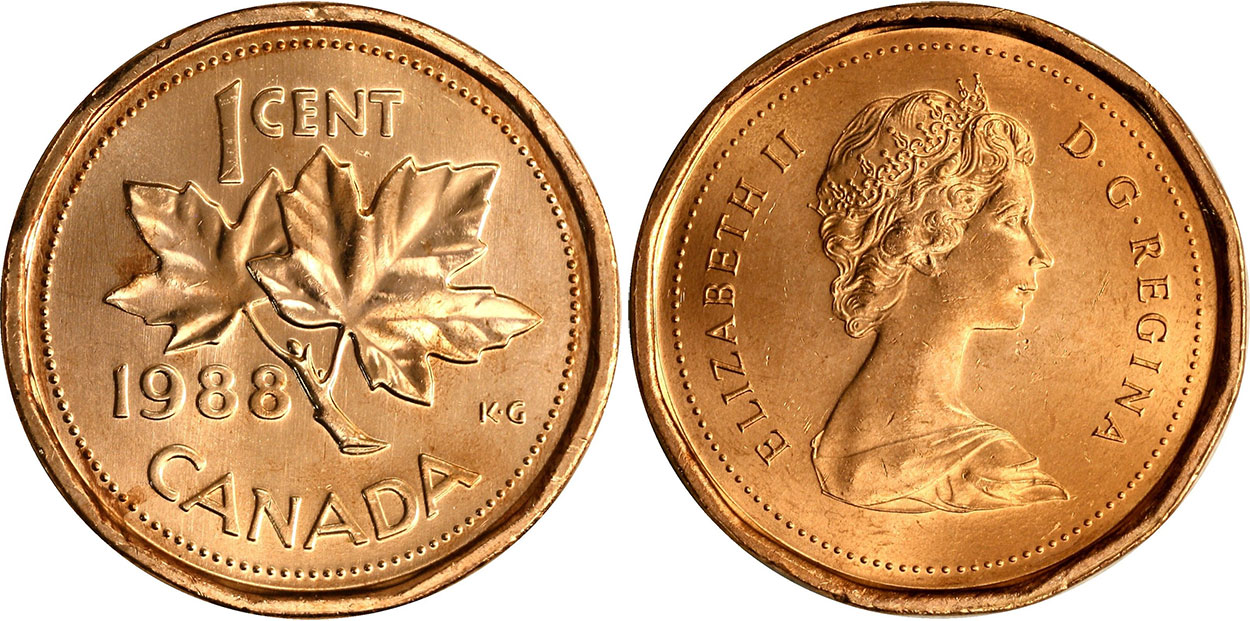 Coins And Canada 1 Cent 1988