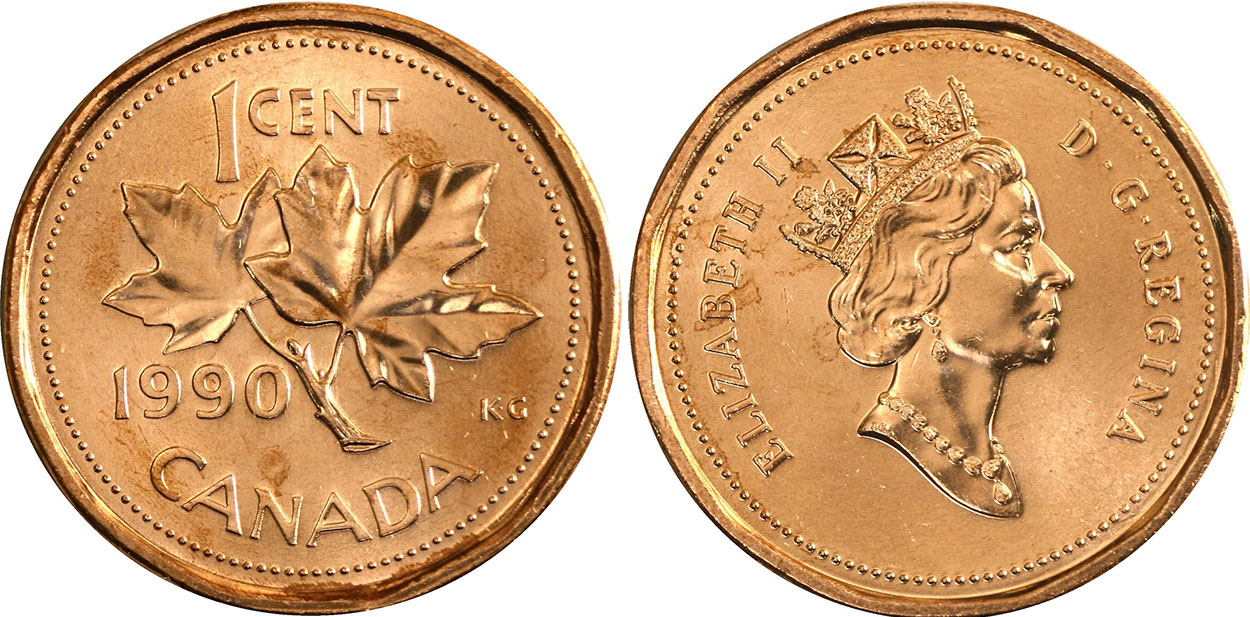 1 cent 1990