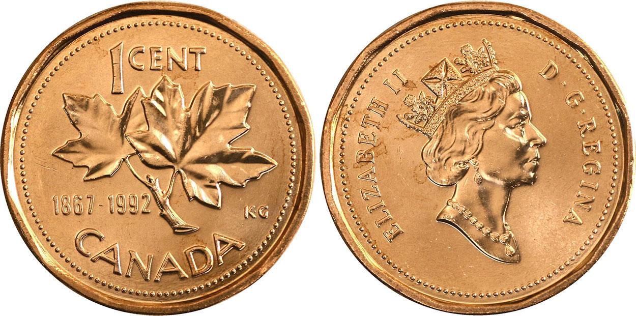 1 cent 1992