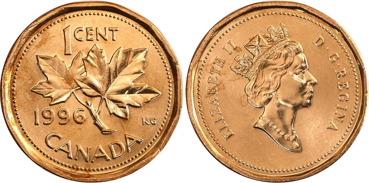 1 cent 1996