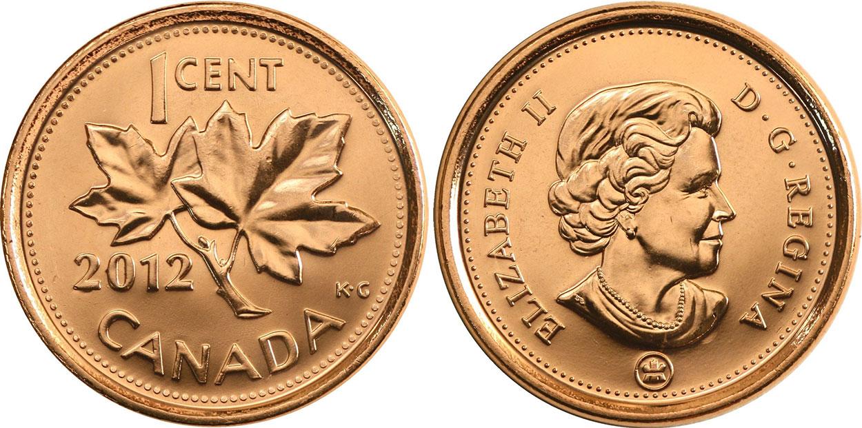 1 cent 2012