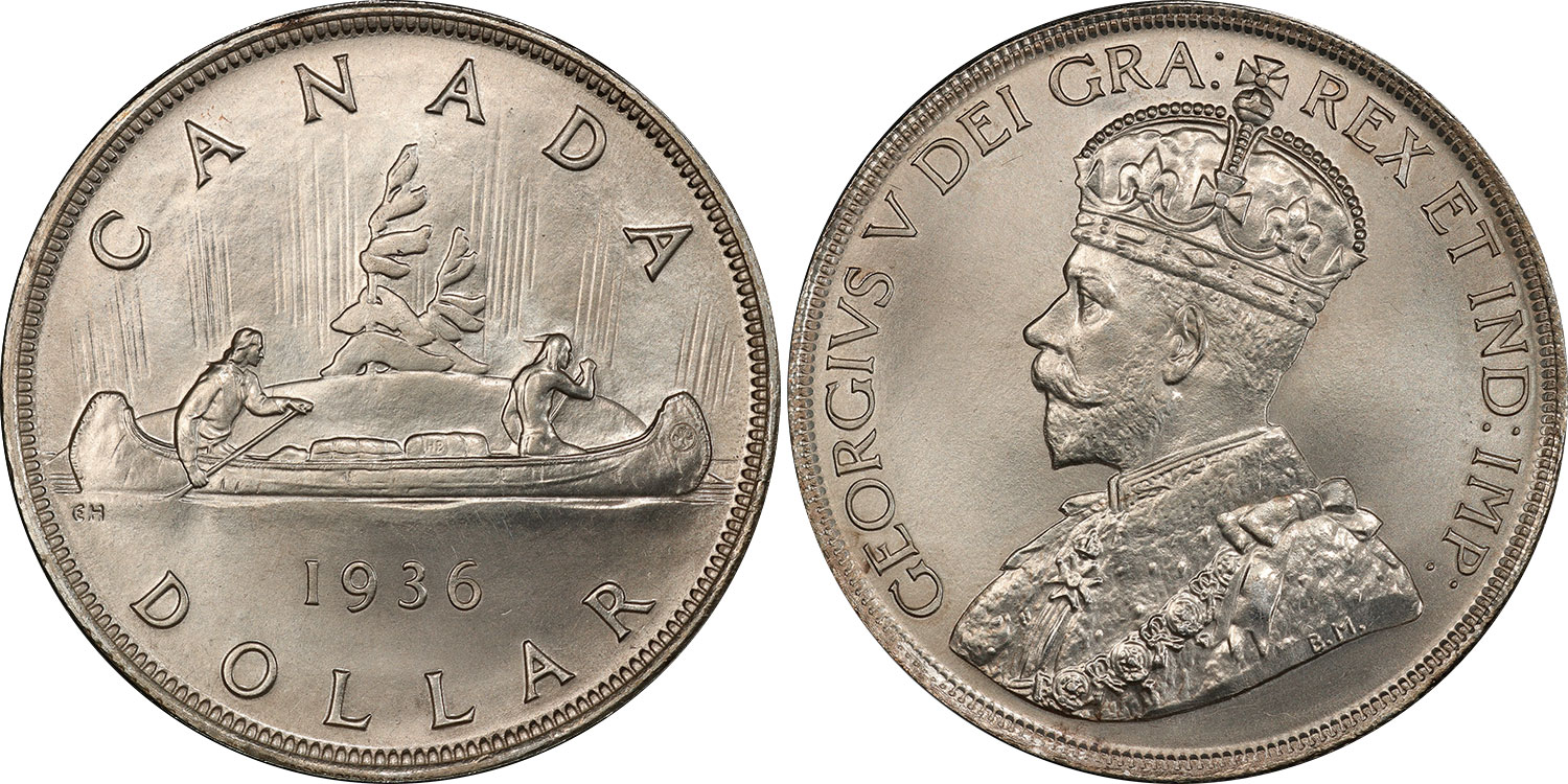 Canadian 1935 Silver Dollar For The Silver Jubilee Coins