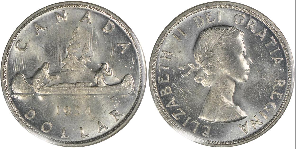 1 dollar 1954