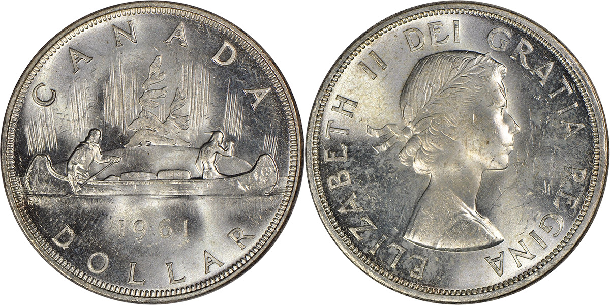 Coins And Canada 1 Dollar 1961 Canadian Price