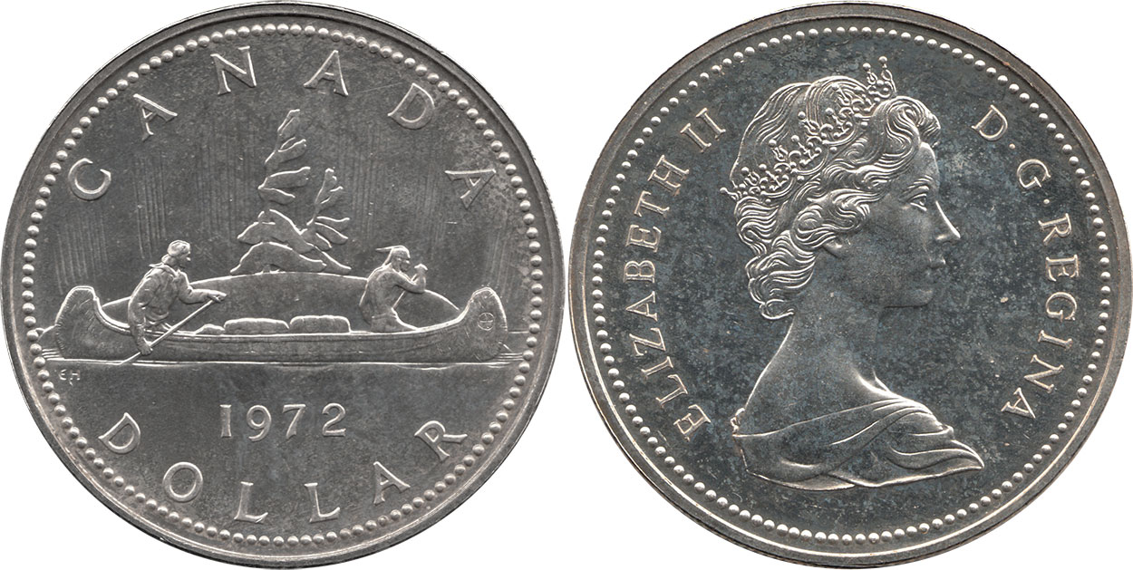 Coins And Canada 1 Dollar 1972 Canadian Coins Price