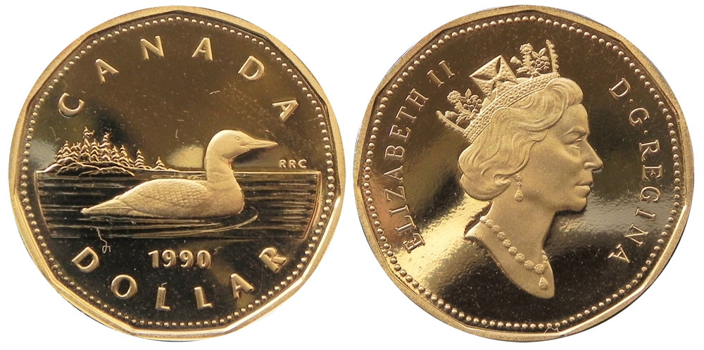 Coins And Canada 1 Dollar 1990 Canadian Coins Price