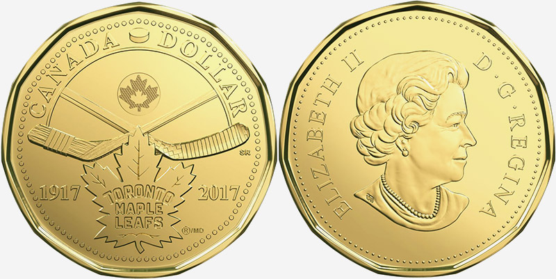 1 dollar 2017 - Toronto - Maple Leafs