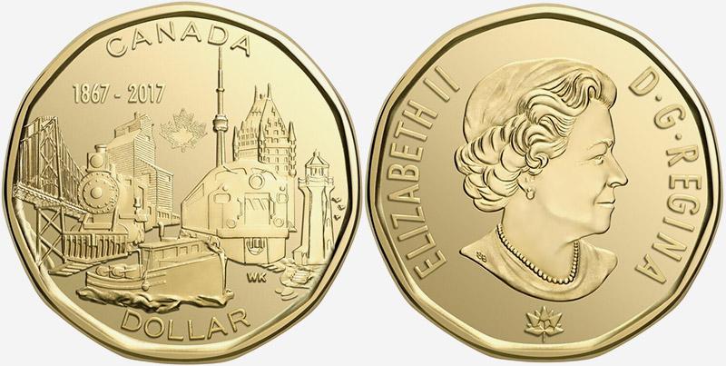 1 dollar 2017 - Canada 150 - 1867-2017