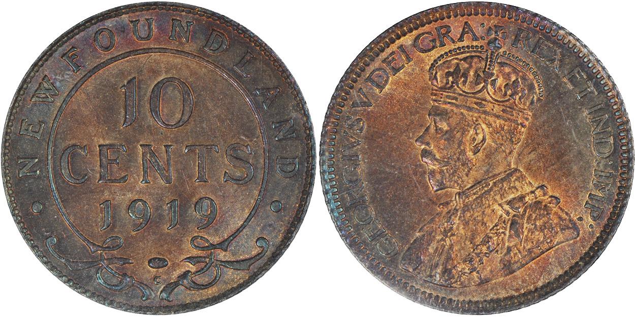 10 cents 1919 - Newfoundland
