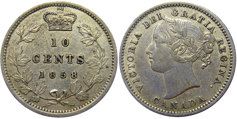 10 cents 1858