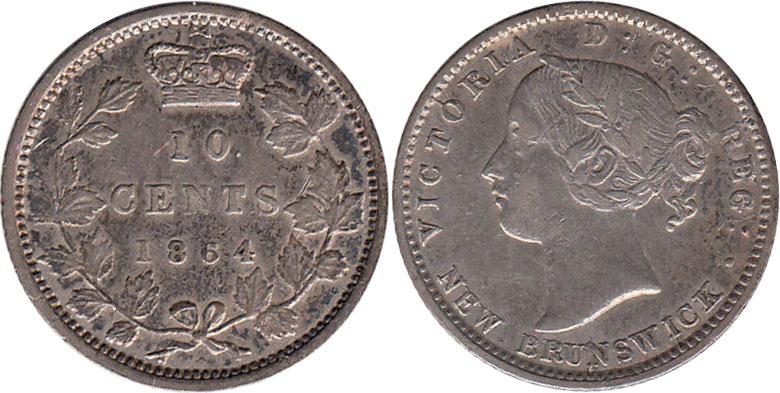 10 cents 1864 - New Brunswick