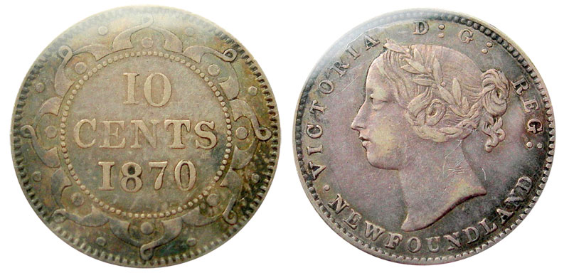 10 cents 1870 - Newfoundland
