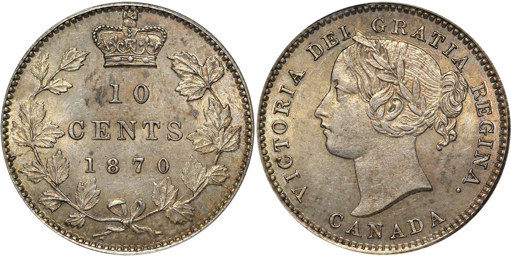 10 cents 1870