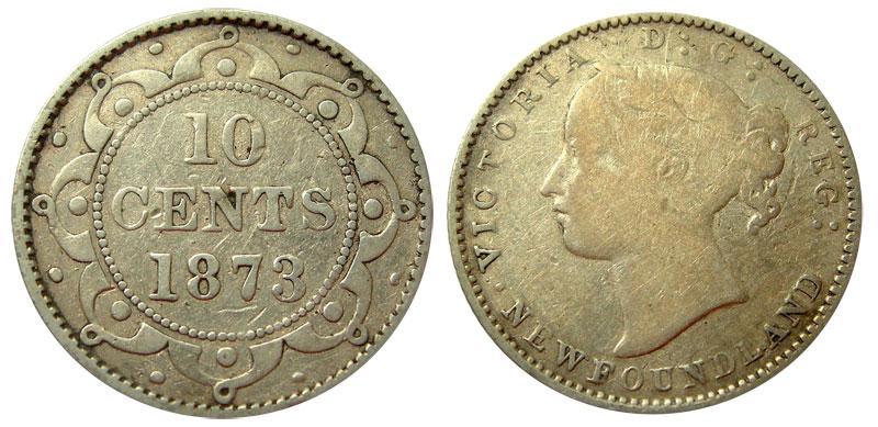 10 cents 1873 - Newfoundland