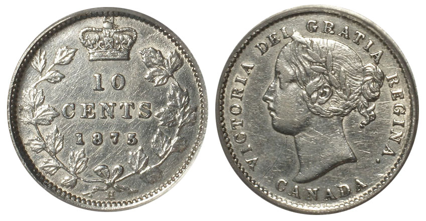 10 cents 1875