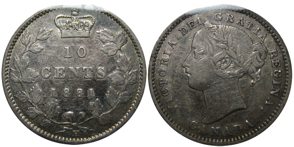 10 cents 1881