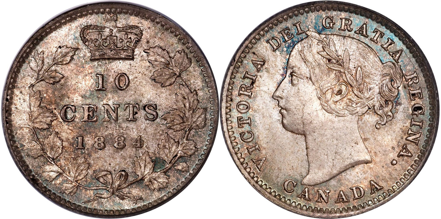 10cents 1884