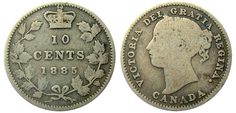 10 cents 1885