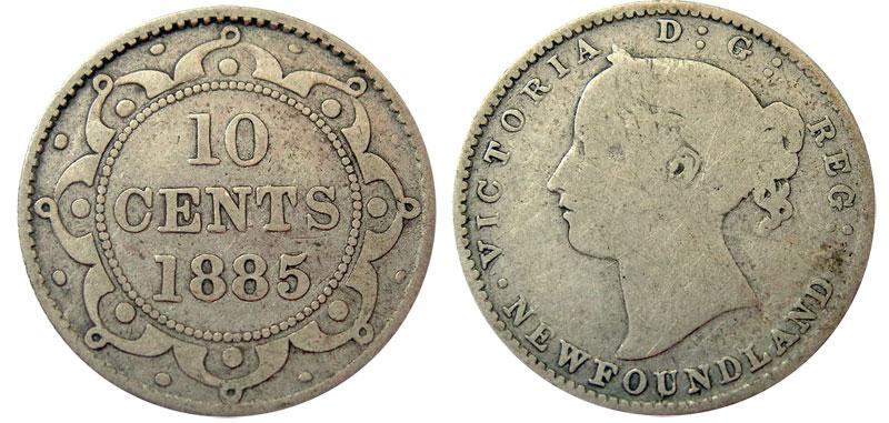 10 cents 1890 - Newfoundland