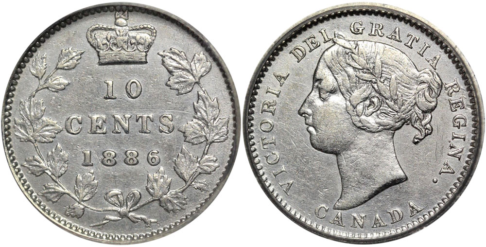 10 cents 1886