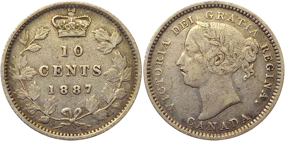 10 cents 1887