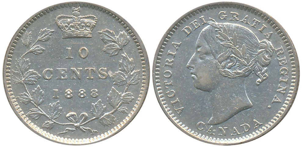 10 cents 1888