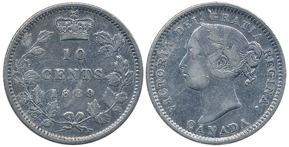 10 cents 1889