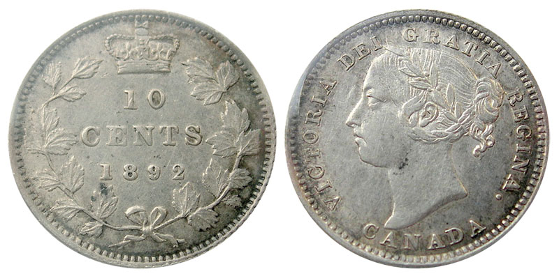 10 cents 1892
