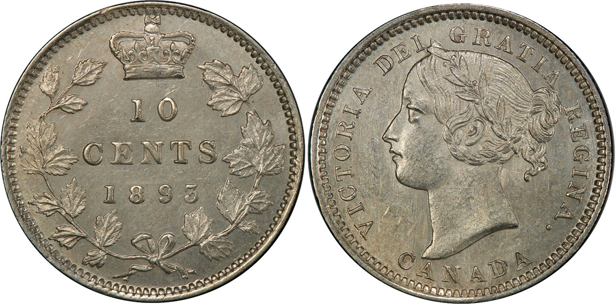 10 cents 1893