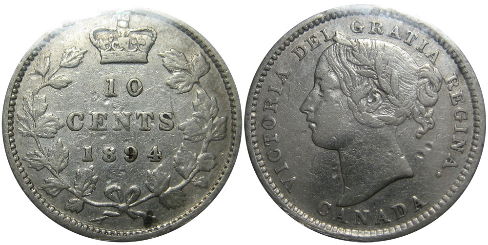 10 cents 1894