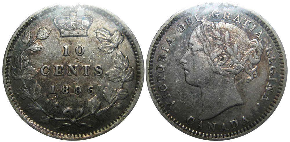 10 cents 1896