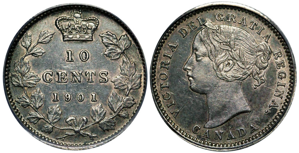 10 cents 1901