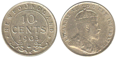 10 cents 1903 - Newfoundland