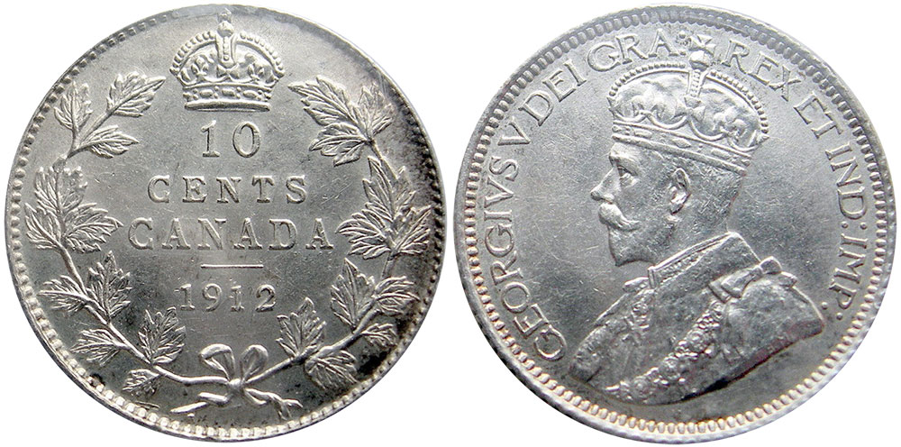 1912 5 cent canadian coin value