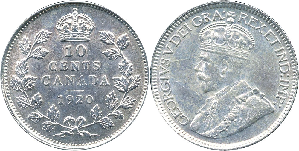10 cents 1920